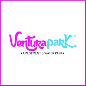 logomarca ventura park em cancun