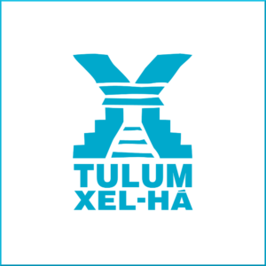 logomarca Tour Xel-Há com Tulum em cancun