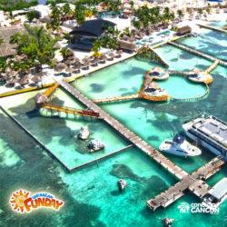 clube-de-praia-caribbean-funday-isla-mujeres-cancun-visao-area