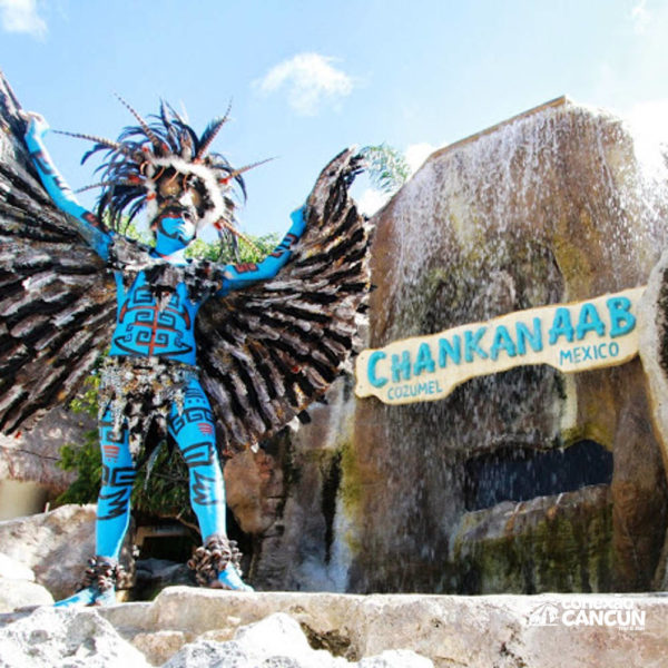 Exposição maya no Discovery Chankanaab