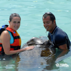 encontro-com-peixe-boi-dolphin-discovery-cozumel-cancun-isla-mujeres-mulher-e-instrutor