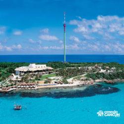 parque-garrafon-dolphin-discovery-royal-swim-vip-plus-isla-mujeres-cancun-visao-aerea-do-parque