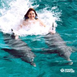 sea-life-circle-dolphin-discovery-riviera-maya-puerto-aventuras-cancun-menina-dorsal-tow-golfinho