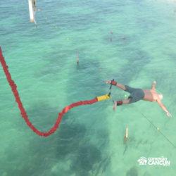 aventura-bungee-jump-extreme-adventure-bay-cancun-visao-aera-do-salto