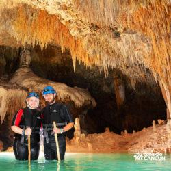 aventura-rio-secreto-cancun-casal