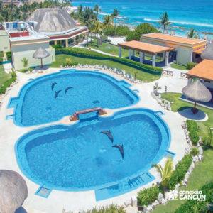 piscinas do Combo Ventura Park com Dolphin Interactive Program